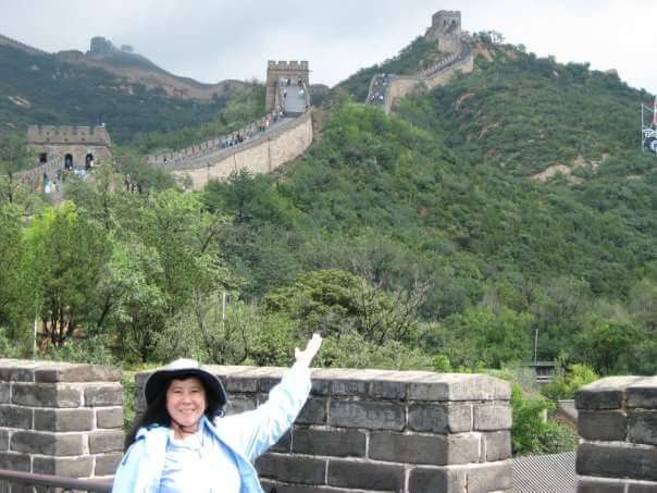 Claire at the Great Wall of China