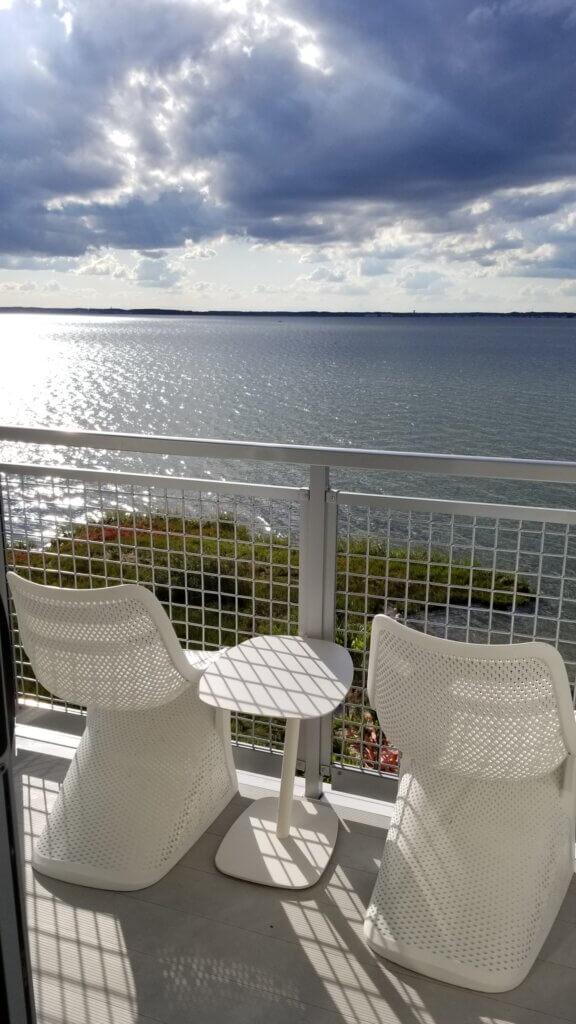 Ocean City Aloft Balcony View of the Bay