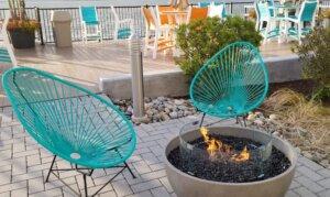 Ocean City Aloft Firepit and Bar Area