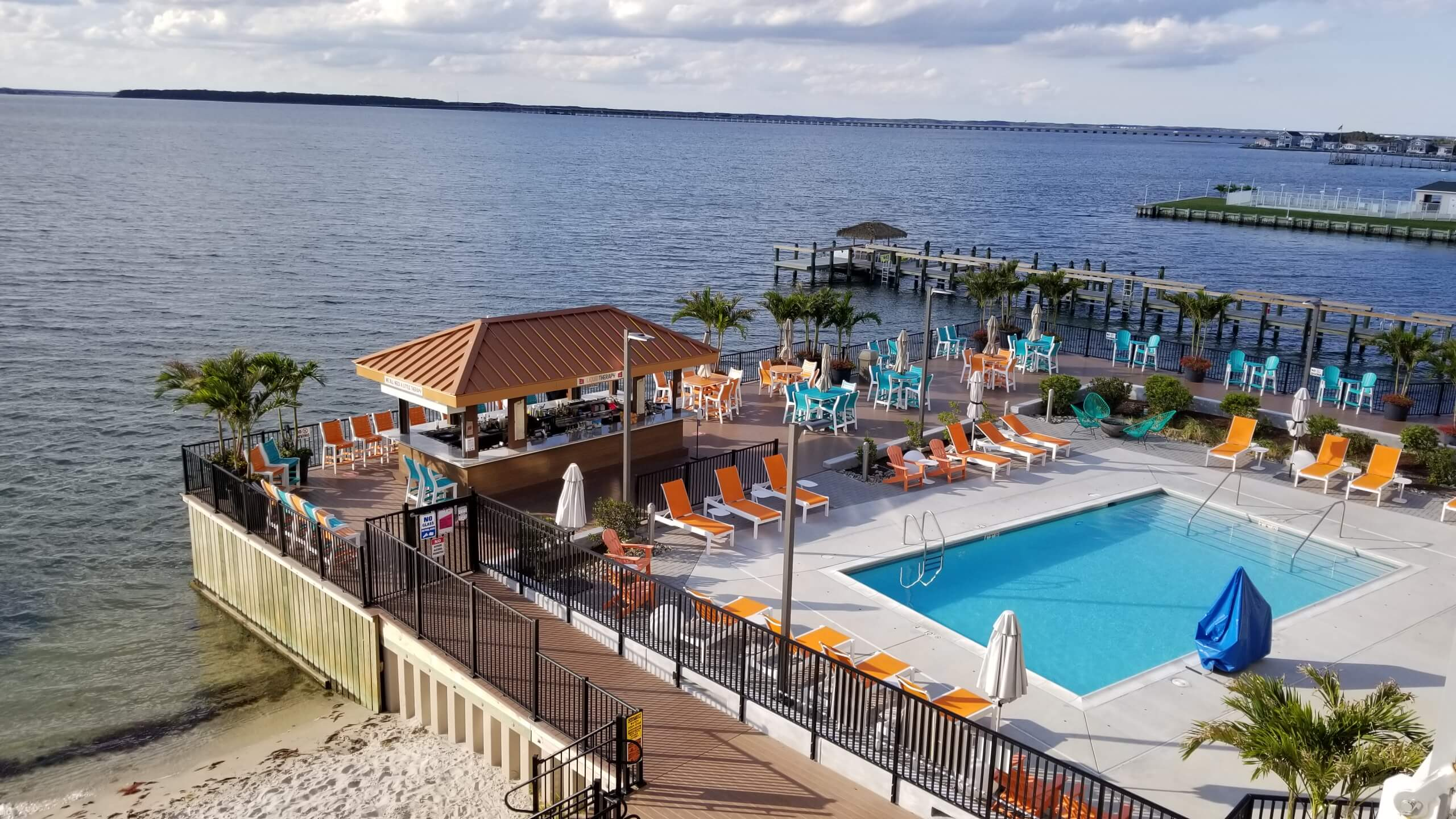 Ocean City Aloft Pool, Bar, and Bay View