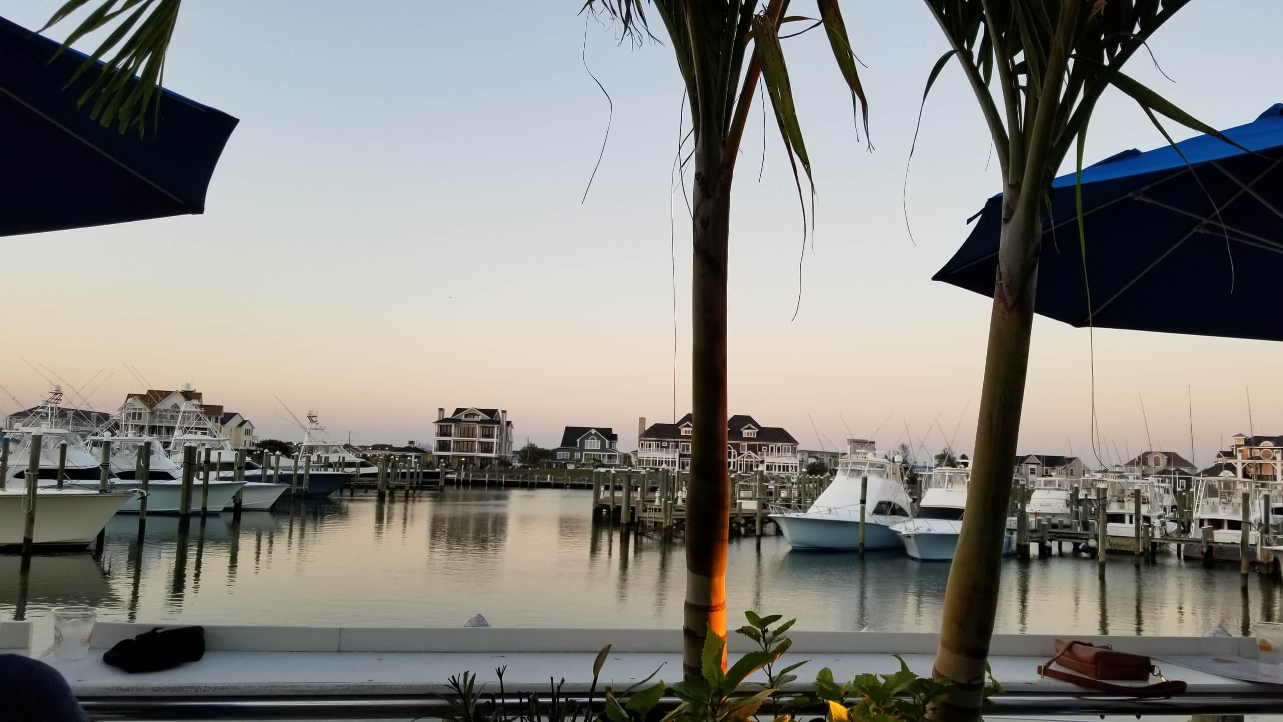 View of the marina from the first floor dock at Sunset Grille
