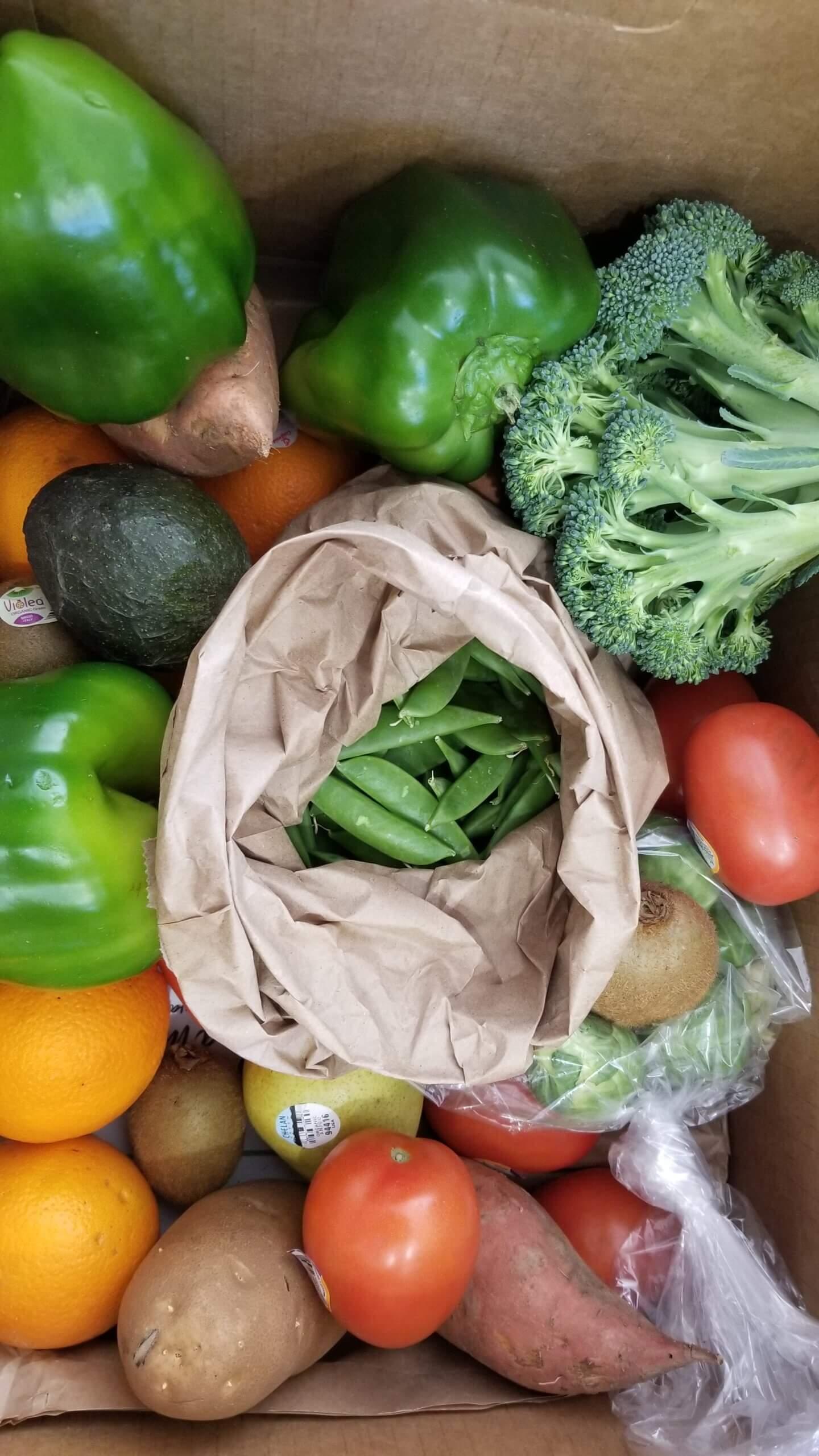 Close up of Full Harvest Box (Organic)