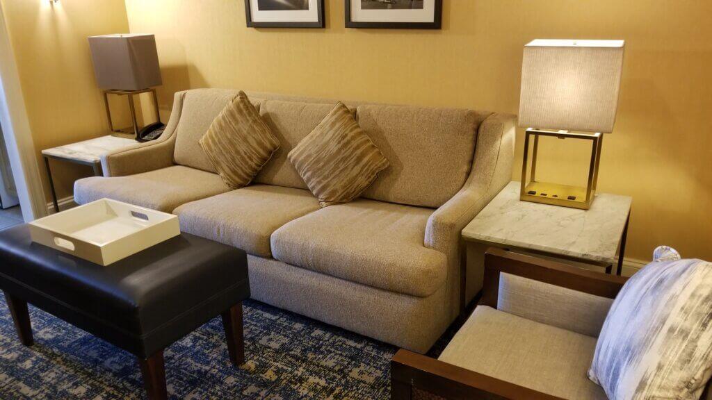 Hilton Suite Ocean City Living Room
