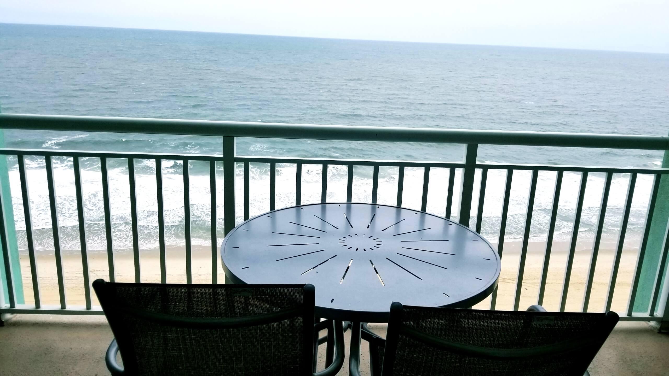 Hilton Suite Ocean City Balcony with Ocean View