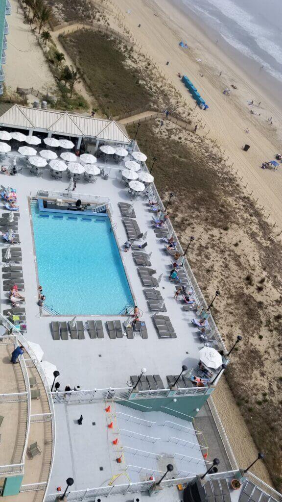 Hilton Suite Ocean City Pool and Beach