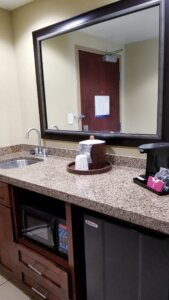 Hampton Inn Bayfront Suite Wet Bar
