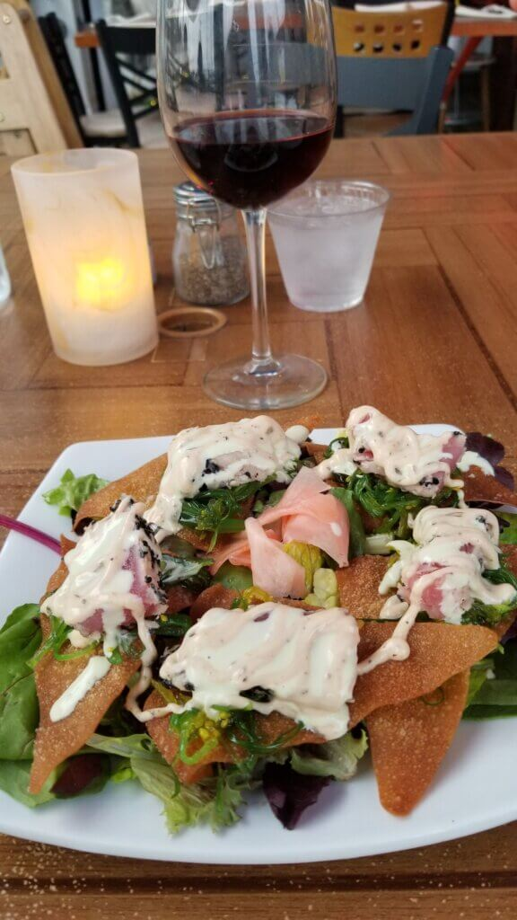 Longboard Ahi Nachos appetizer